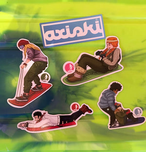 Axiski Sticker Pack - Axiski, for Snow, Frosty Grass and Sand Dunes