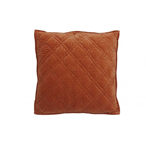 Diamond Cushion in velvet terracotta-Cozy Home Dubai