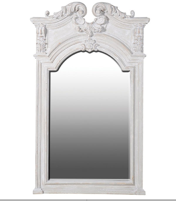 mirror with moulding, grey color, large