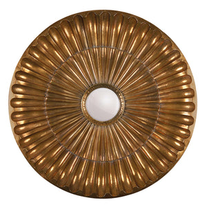 round mirror in gold, large decor mirror dubai