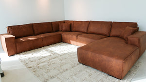 Adel Leather Lounger