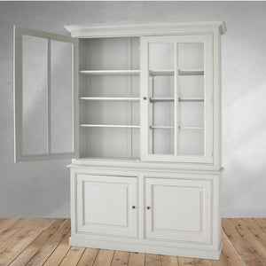 cabinet with glass doors and bottom storage, home furniture dubai