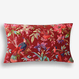 Birds in Paradise Cushion Red