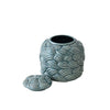beautiful home decor in Dubai, green jar with special design and cover for storage