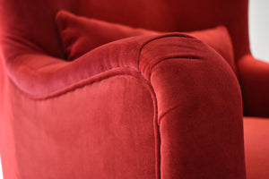 velvet club chair, cozy home dubai