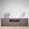 tv unit for large television, cozy home dubai, real oak