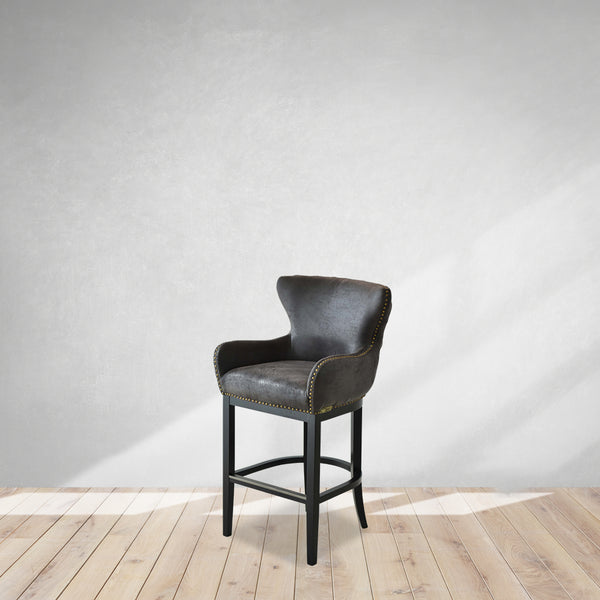 faux leather club chair, cozy home dubai