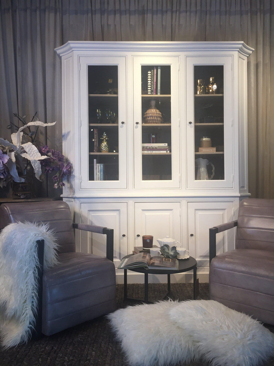 Maxim Showcase 3 Door Cabinet-Cozy Home Dubai