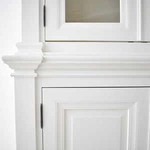detail of moulding in classic style furniture cabinet
