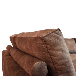 adjustable bolster for sofa, brown sofa, cozy home dubai