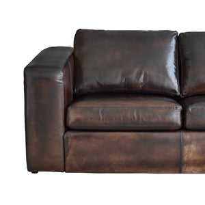 supple leather, brown cognac sofa, cozy home dubai