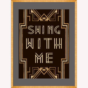 Swing with me 2 Framed Art