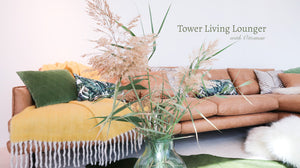 Tower Lounger with Ottoman
