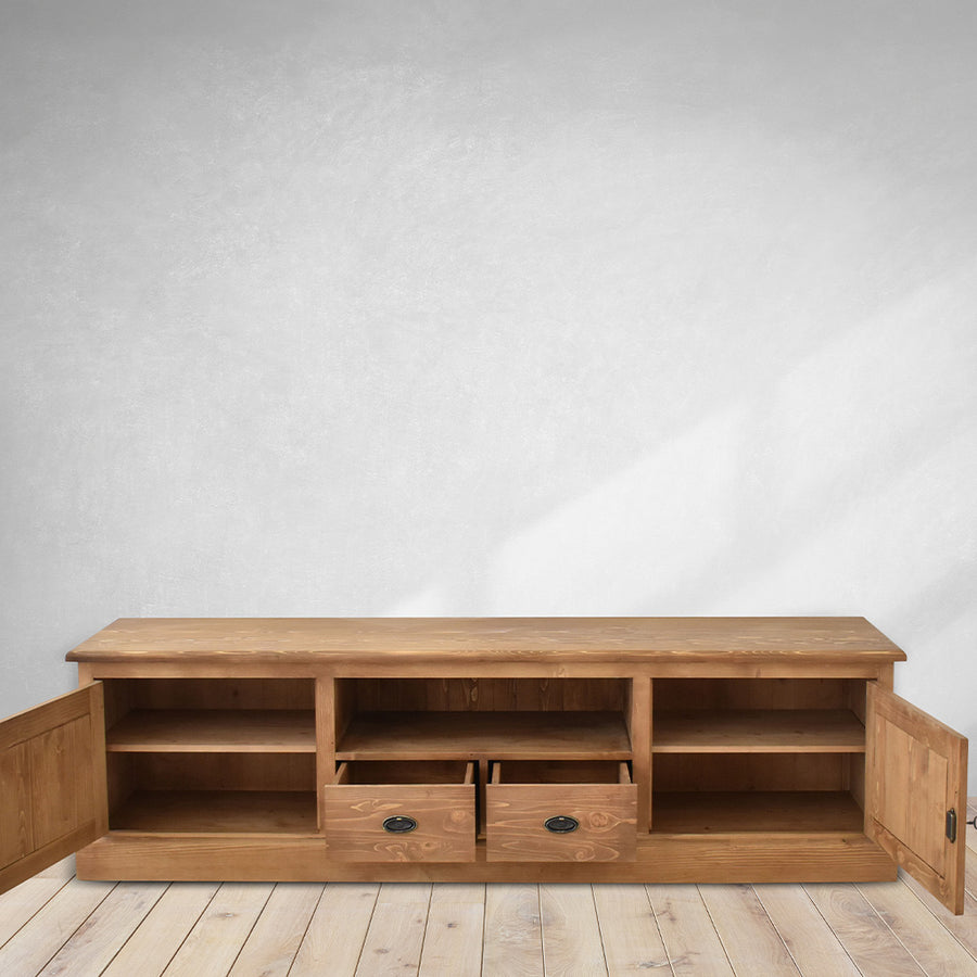 solid wood tv table, brown color for tv unit