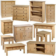 Pine Wooden Furniture With Oak Effect Wax