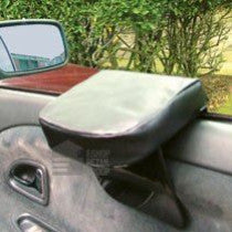 Black Faux Leather Padded Car Arm Rest - Armrest That Fits On Driver's Vehicle Door