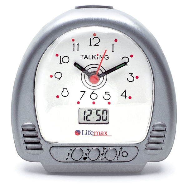 Talking Alarm Clock Analogue LCD Digital Blind Partially Sighted Optional Hourly