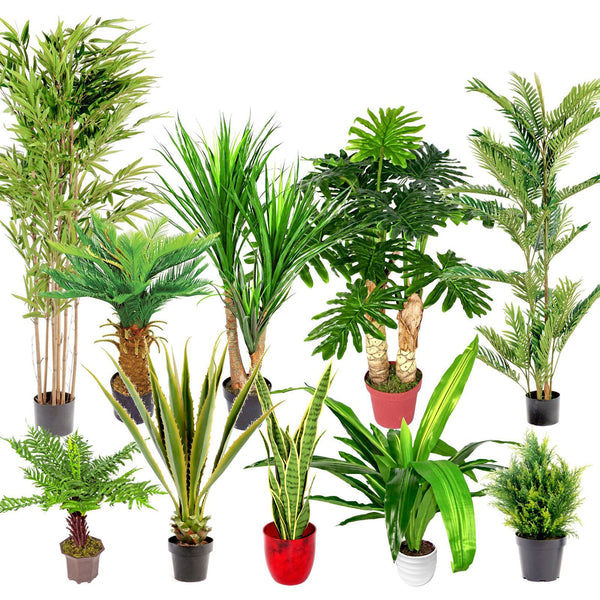 Artificial Plant Exotic Tropical Jungle Palm Tree Bamboo Cypress Fern Aloe Fake