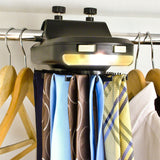 Electronic Tie Rack That Fits On Wardrobe Hanging Rail - Organise And Store Your Neckties