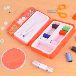 130 Piece Self Threading Needle Sewing Kit Set With Protective Case
