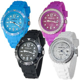 Wrist Watch Solar Powered Wristwatch Ladies Water Resistant Jewelled Gems Jewels