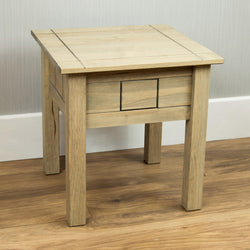 Panama Oak Effect Pine Lamp Table