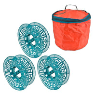 3 Tree Light Holder Reels - No More Tangled Christmas Fairy Lights! Three Reels With Carry Bag