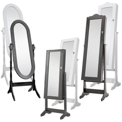Mirror Full Length Bedroom Freestanding Long Tall Floor Stand Jewellery Cabinet