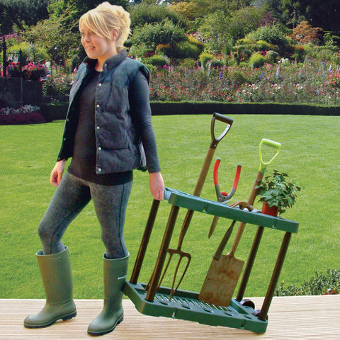 Garden Tool Holder With Wheels