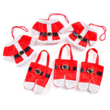 6Pcs Santa Claus Dinner Table Cutlery Holders and/or 6pcs Santa Hat Name Place Holders