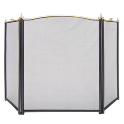 Fire Guard Panel Screen Safety Fireguard Fireside Fireplace Gas Coal Log Nickel
