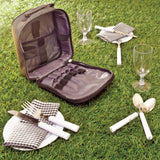 Picnic Set Bag 2 Person Camping Outdoors Garden Dining Accessories Plates Forks