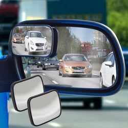 2 Stick On Adjustable Blind Spot Mirrors: Eliminate Blindspots When Reversing Your Car