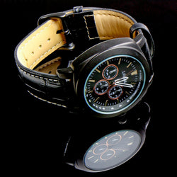 Radio Controlled Multiband Atomic Talking Wrist Watch UK Voice Gents Men Leather