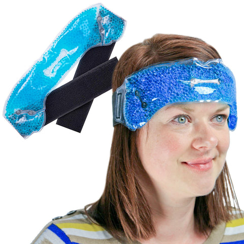 Deluxe Migraine Relief Wrap Headache Sinus Therapeutic Relief Hot Warm Cold Cool