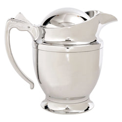 Insulated Chrome Jug Gravy Boat Sauce Hot Cold Warm Pourer Jug With Lid