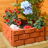 Brick Effect Plastic Hammer-In Garden Edging - Terracotta Style Lawn Border