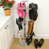 3 Tier Revolving / Rotating Shoe Tree Stand / Storage Rack