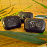 Bamboo Charcoal Soap For Soothing Dry Irritated Skin - 3 Bars