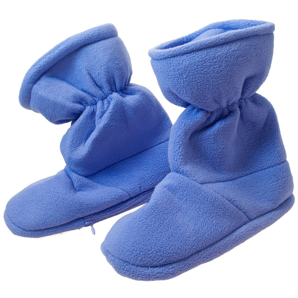 Pair of Cosy Lavender-Scented Heat-Up Microwave Bootie Slippers For Cold Winter Days