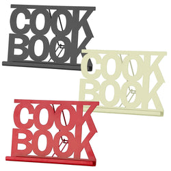 Cook Book Stand Holder Recipe Rack Kitchen Worktop Display Enamel Black D�cor