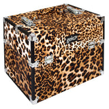 Cosmetic Organiser Storage Case: Luggage Style - Leopard Print, Zebra Print, Black Flowers / Floral