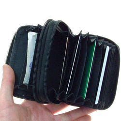 Leather Covered Stainless Steel Security Wallet