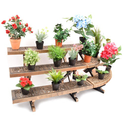 3-Tier Bronze Etagere Straight Or Corner Plant Pot Garden Display Stand Indoor Outdoor