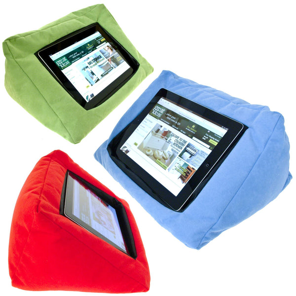iPad / Tablet Padded Pillow Stand With Zip Pocket - Ideal Holder To Watch Movies And Films Or Read In Comfort