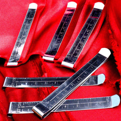 6 Hem Clips - Curtain or Seam Measuring Guides for Sewing Fabric - 3 Inches or 7.5 cm