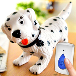 Cordless Wireless Dog Shaped Doorbell Door Chime Barking Bark Woof 50m Range