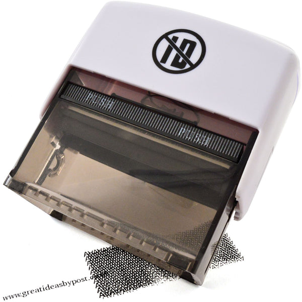 ID Protection Self Inking Identity Theft Rubber Stamp AND Refill