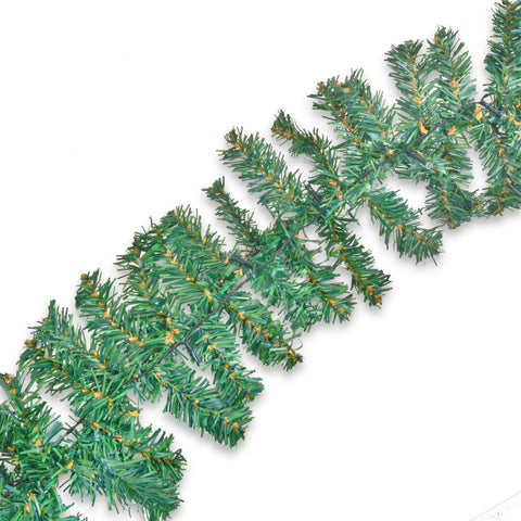 LED Pine Needle Christmas Garland: 4.8m Long Electronic Outdoor Solar Powered Decoration - Outdoor Use