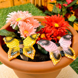 2 Automatic Ceramic Butterfly Plant Waterers - To Water Pot / Hanging Basket Flowers
